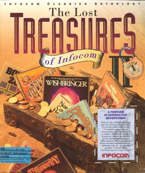 treasure of the lost l the lost treasures of infocom ii 1992 dos box cover art