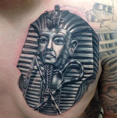 egyptian pharaoh tattoo designs black and grey pharaoh portrait by nate beavers