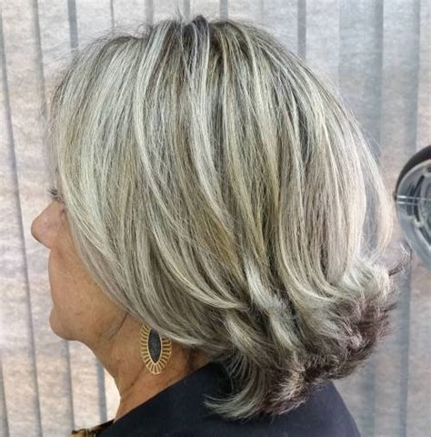mid length grey hair 80 best modern haircuts hairstyles for women over 50