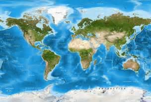 world map image detailed world satellite image map light blue oceans