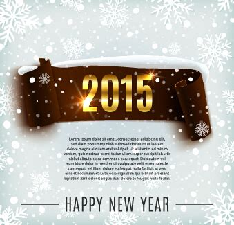 new year banner 2015 2015 new year banner with snowflake pattern vector