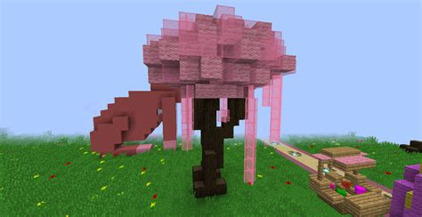 cherry tree minecraft cherry blossom tree by firestar5631 on deviantart