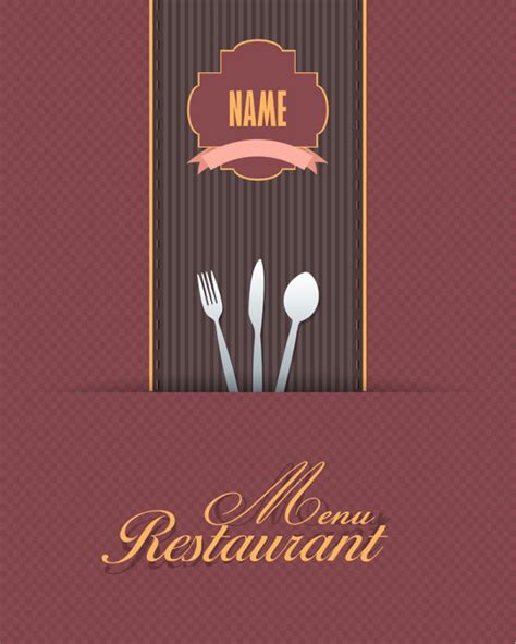 Menu Cover Template commonly restaurant menu cover template vector set 16