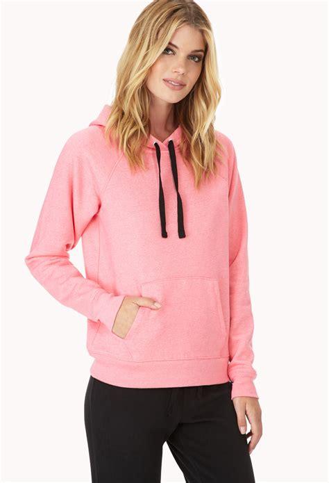 Jaket Hoodie 21 Pink forever 21 fleece lined sleep hoodie in pink lyst
