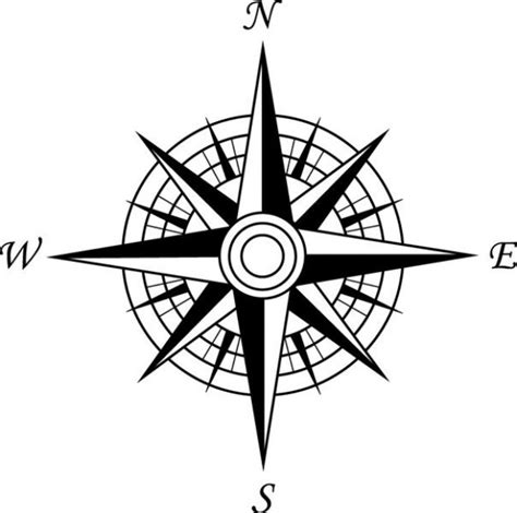 line drawing compass clipart best simple to draw compass cardinal points clipart best