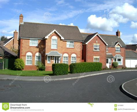 british houses two british houses stock image image 1019361