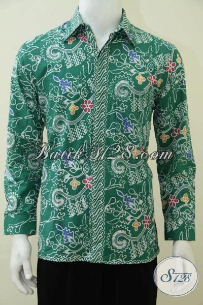 Gamis Batik Tulis Hijau busana batik lengan panjang warna hijau untuk anak muda