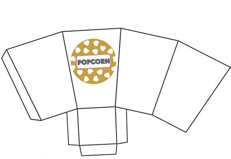 popcorn container template templates for printing popcorn pictures to pin on