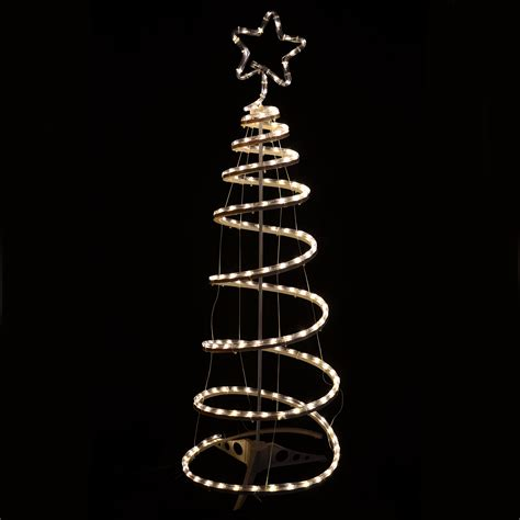 Indoor Outdoor Xmas Rope Light Decoration Warm White Rope Light Spiral Tree