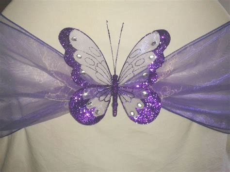 wedding party decoration clip  butterfly large glitter