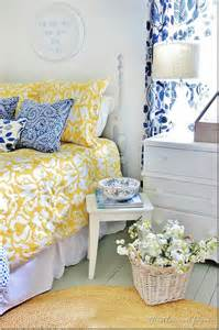Yellow Bedroom Decorating Ideas blue and yellow farmhouse bedroom thistlewood farm