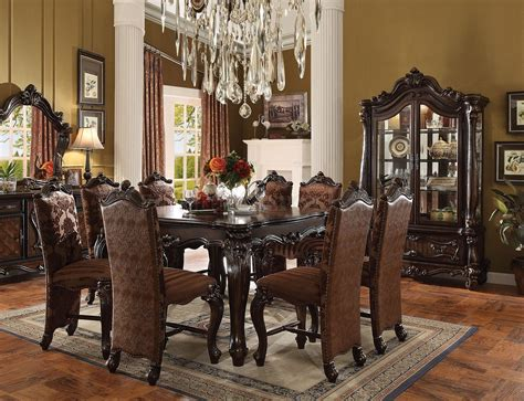versailles dining room versailles 61155 counter height table in cherry by acme w