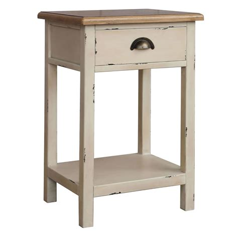 Accent Table Canada Nspire Amelia 1 Drawer Accent Table Rustic White Disc 501 734 1d Modern Furniture Canada