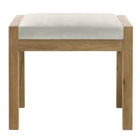 bedroom stool athens oak bedroom stool c w beige fabric seat pad
