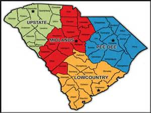 the sc lowcountry midlands and piedmont