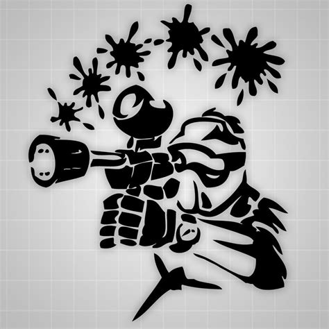 Ebay Wall Stickers paintball wall decals paintball room theme paintball