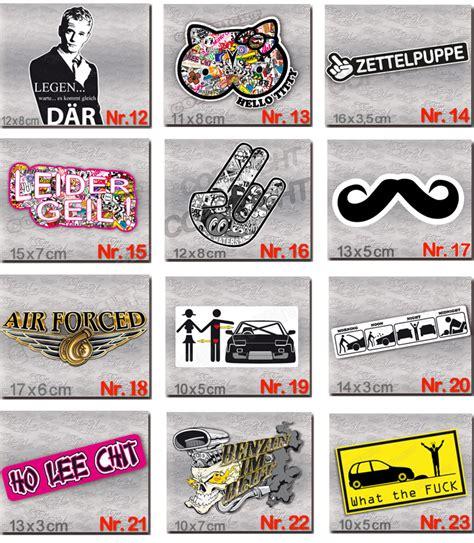 Coole Aufkleber Bestellen by Dub Style Aufkleber Jdm Euro Sticker G 252 Nstig Im Set Coole