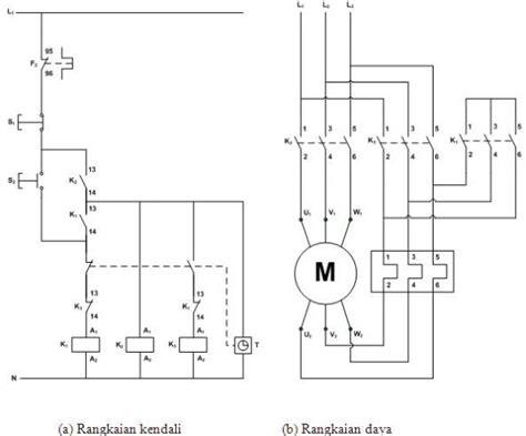 rangkaian delta pada motor listrik 3 phasa