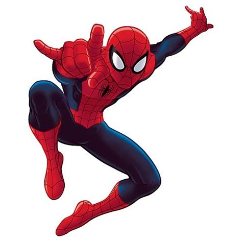 ultimate spider man cartoon peel stick giant wall decal roommates spider man wall