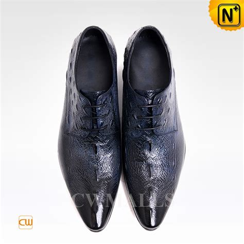 pointed oxford shoes cwmalls embossed leather oxford dress shoes cw716013