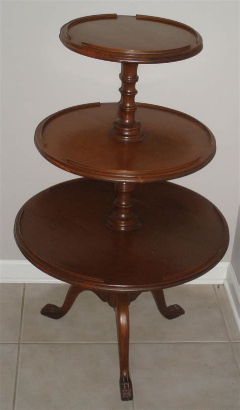 three tier table antique antique mahogany three tiered table from days by