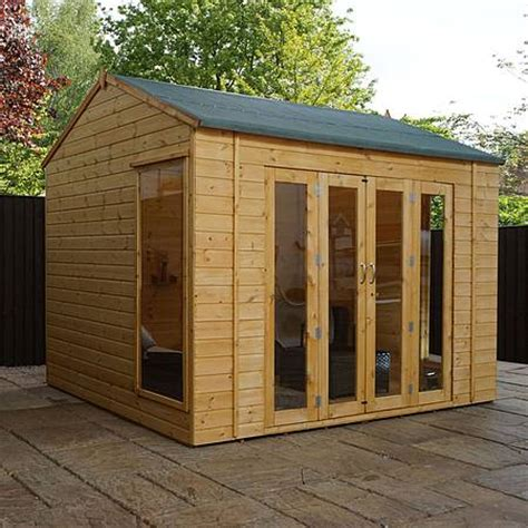 buy summer house uk waltons 8ft x 10ft vermont wooden summerhouse waltons sheds