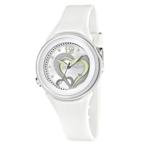 montre calypso blanche k5576 1 pour enfant fille blanc tendance achat vente montre cdiscount