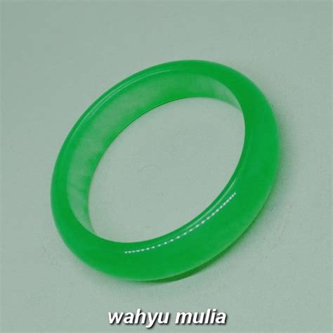 Giok Batu Hijau gelang batu giok jade hijau asli kode 992 wahyu mulia