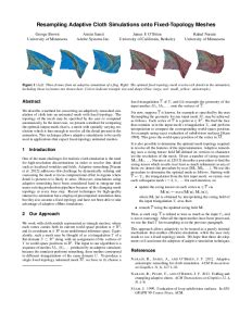computer graphics research papers resling adaptive cloth simulations onto fixed topology