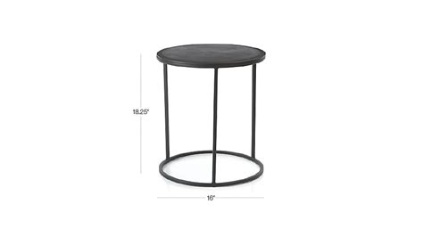 crate and barrel accent tables knurl small accent table crate and barrel