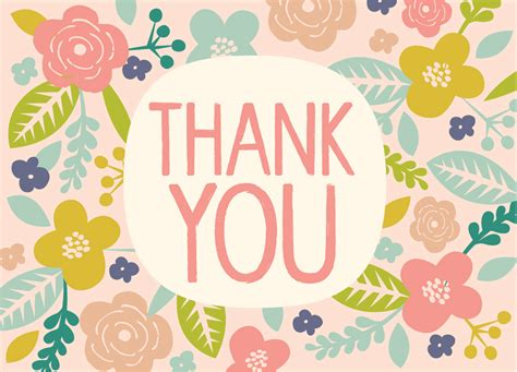vintage thank you card by hillarybird on etsy