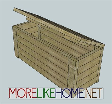 Patio Storage Box Plans by Wood Deck Storage Box Plans Woodworking Projects Plans