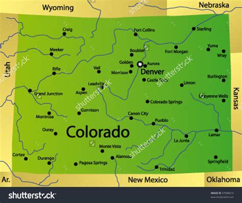 map of colorado vector colorado state map my blog