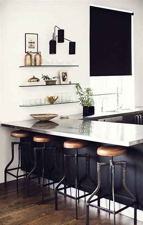 Nate Berkus Bar Stools by 16 Kitchens With Black Kitchen Cabinets Done 16 Different