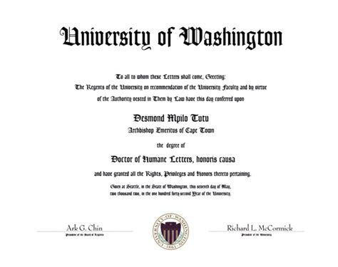 Emmanuel College Acceptance Letter The Of Washington Honorary Degrees