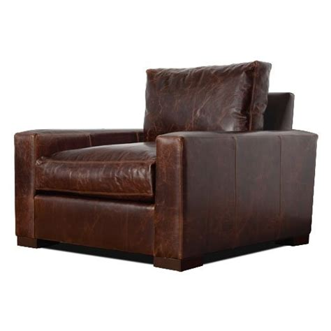Big Comfy Leather Chair Big Comfy Boxy Leather Chair For The Home