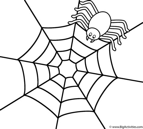 free printable spider web coloring pages for kids spider on the top of web coloring page halloween