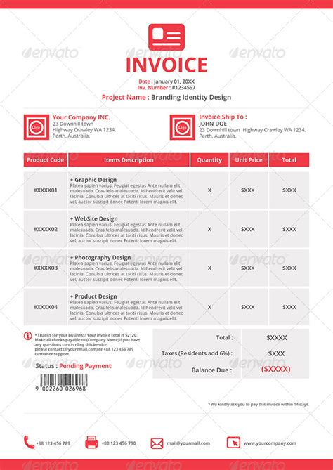 invoice template indesign gstudio invoices and receipt template by terusawa