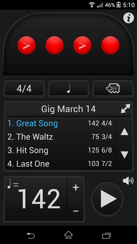 metronome app android tempo for android by frozen ape the metronome app