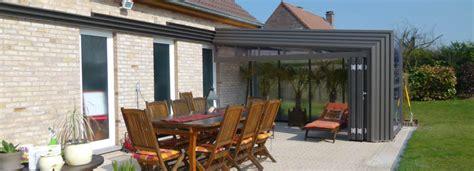 Veranda Toit 4 Pans by Veranda Retractable Terrasse Bronze Pans Droits House