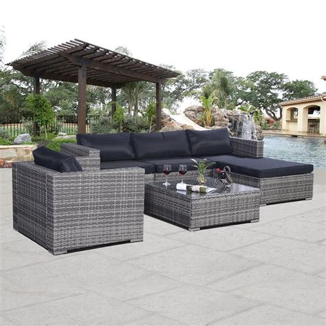 Convenience Boutique Outdoor Rattan Furniture Set Patio Pe Wicker Patio Furniture Covers
