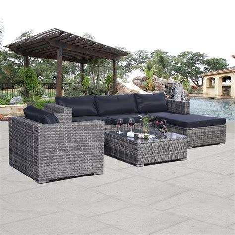 Convenience Boutique Outdoor Rattan Furniture Set Patio PE