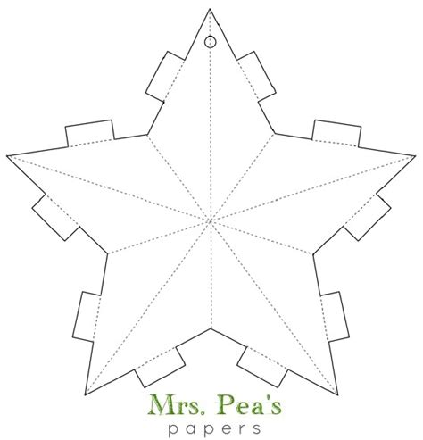 Diy Paper Star Garland Mrs Pea S Perspectives Garland Template