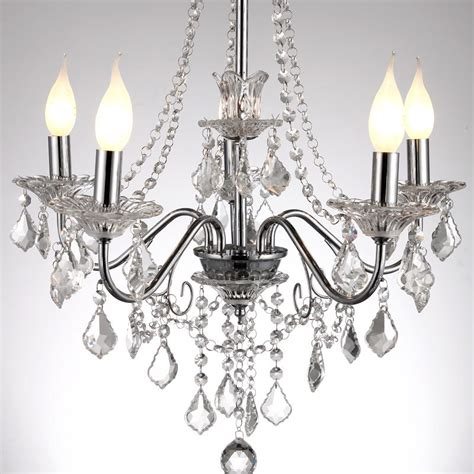 Restaurant Chandelier 21 Quot European Modern Hanging Polished Chrome 5 Lights Living Room Chandelier Luxury