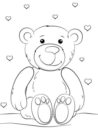 snow bear coloring page snow teddy bear coloring pages coloring pages