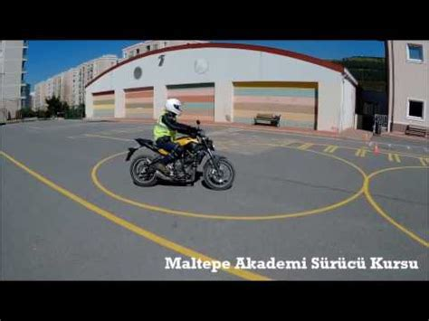 yeni motosiklet direksiyon sinav parkuru
