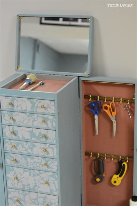 creating extra seating space with repurposed wooden chest hometalk get organized repurpose an old jewelry box into a diy