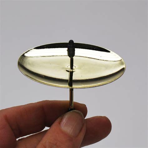 kerzenteller kaufen kerzenteller mit dorn gold 216 7 5cm 4stk g 252 nstig kaufen