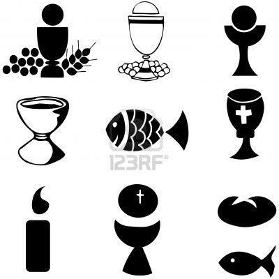 imagenes simbolos biblicos conjunto de la ilustraci 243 n de una comuni 243 n representando