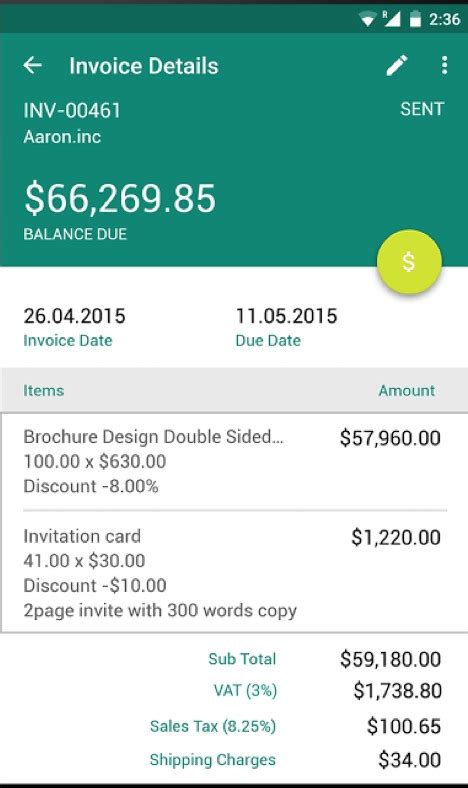 best free invoice app for android hardhost info